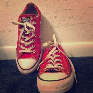 Red Used Converse Sneakers